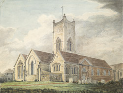 View of Kingston church in the county of Surrey